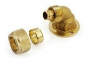 terminal curve with adapter  for fitting - accessory tube PEX