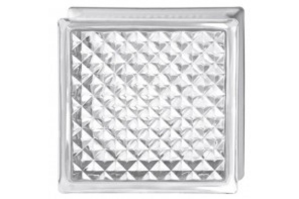 Transparent  glass block- Diamond