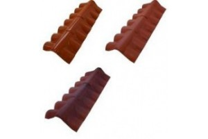 Ridge for curved tile