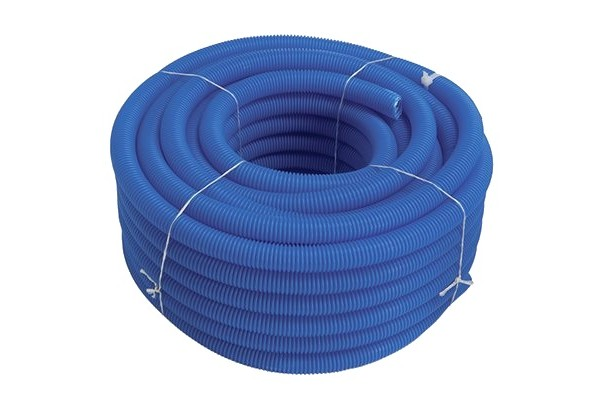 Blue corrugated pipe - cold waters