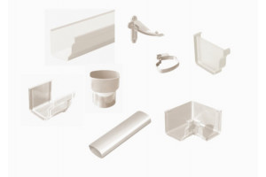 gutter and accessories in PVC model BEST color white