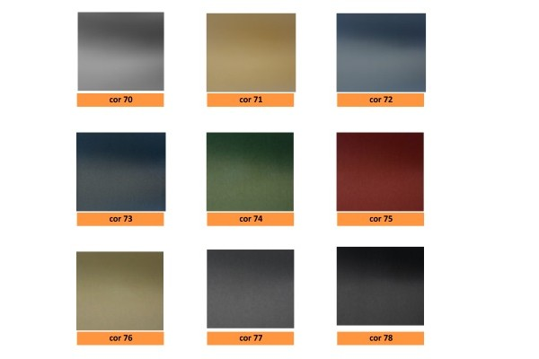ceiling pvc coated - metal effect - Outdoor