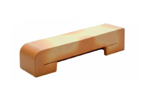 finish brick - curved side