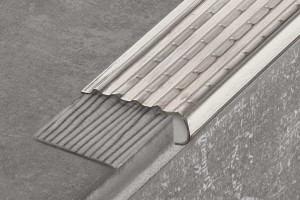 stair nosing profile - stainless steel - glue