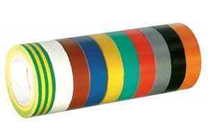 Multicolored adhesive tapes