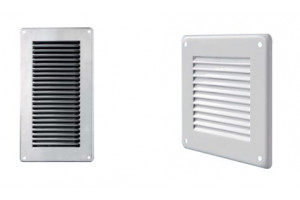 white or stainless steel ventilation grille 430