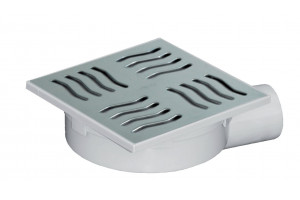 Drain Siphoned Adjustable Grid Stainless Steel- Side Discharge