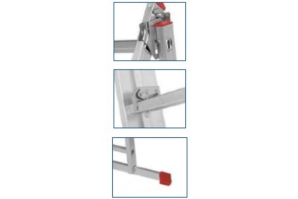 Dual convertable aluminum ladder