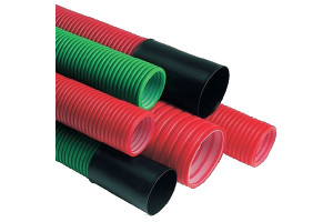 HDPE pipe - WIRING (Red - electricity)