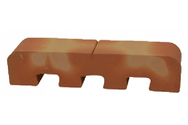 curved toothing brick - halves