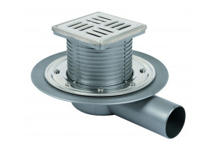 telescopic drain PP net and stainless steel grill