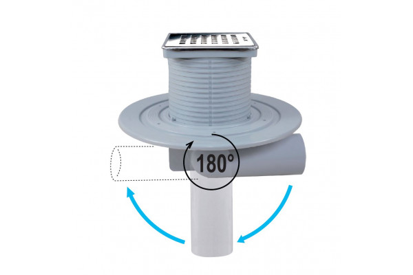 telescopic drain with  blade ABS and stainless steel grill