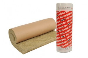 rock wool - roll with paper