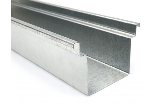 channel without pendant  - galvanized steel or stainless steel