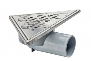 corner drain ABS and stainless steel grill