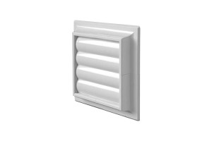 pvc white ventilation grille with gravity fin