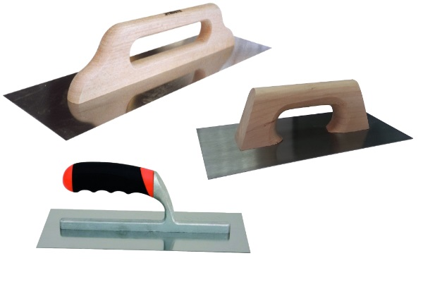 smooth stainless steel trowel