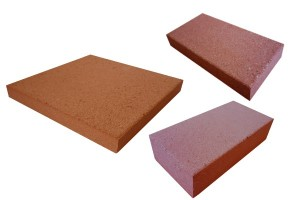 bricks and tiles refractory pressed red
