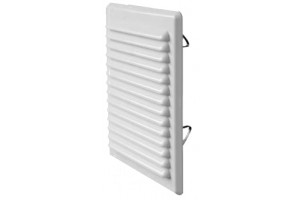 ventilation grill white pvc with mosquito net