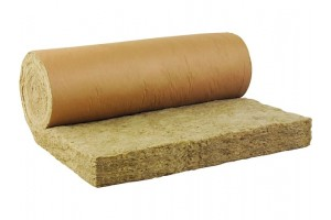 mineral wool - roll with paper
